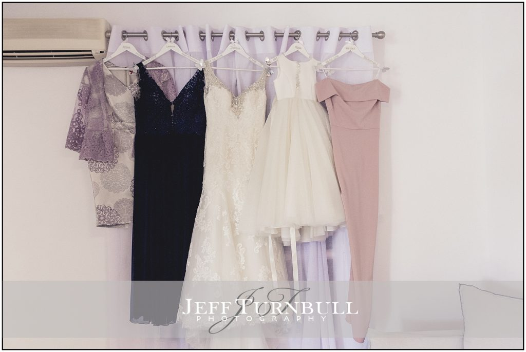 Bridesmaids Dresses Santorini wedding