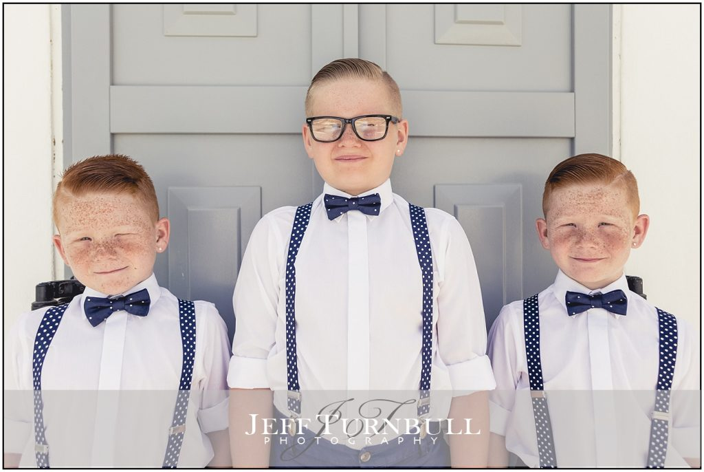 Pageboys Santorini Wedding