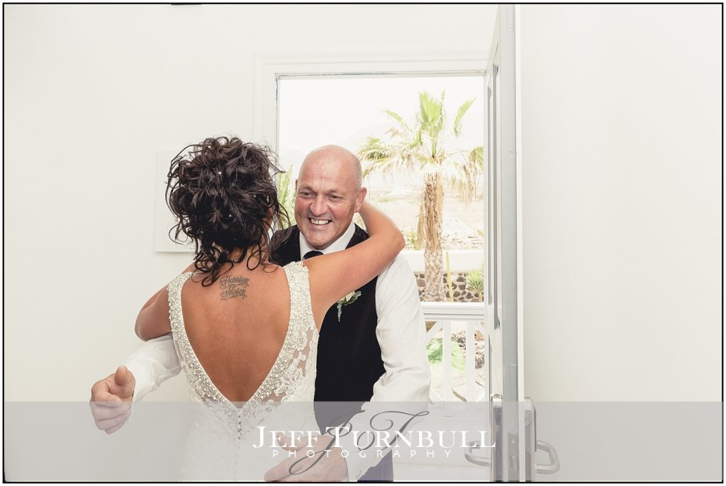 Father of the Bride & Bride Santorini Wedding