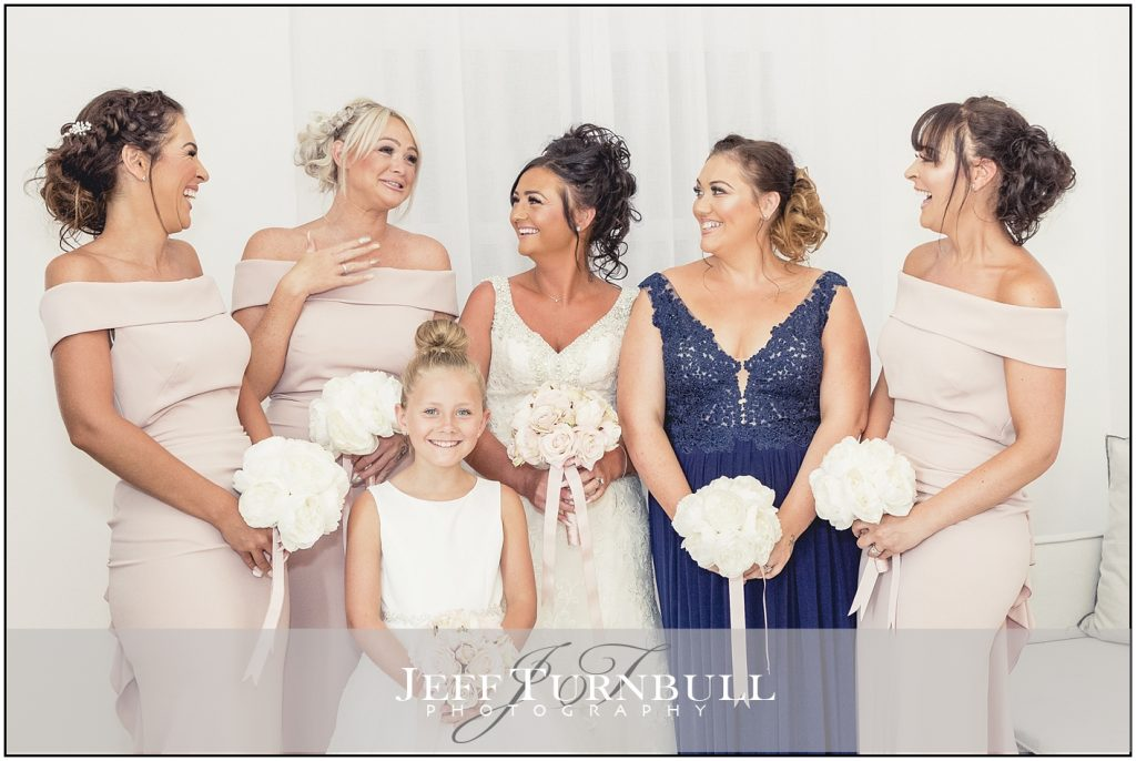 Bride & Bridesmaids Santorini Wedding