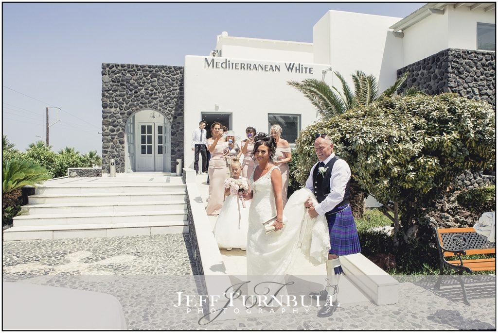 Bride & Bridesmaids Santorini Wedding
