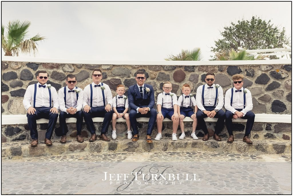 Groom, Best Man, Page Boys Santorini Wedding Photography