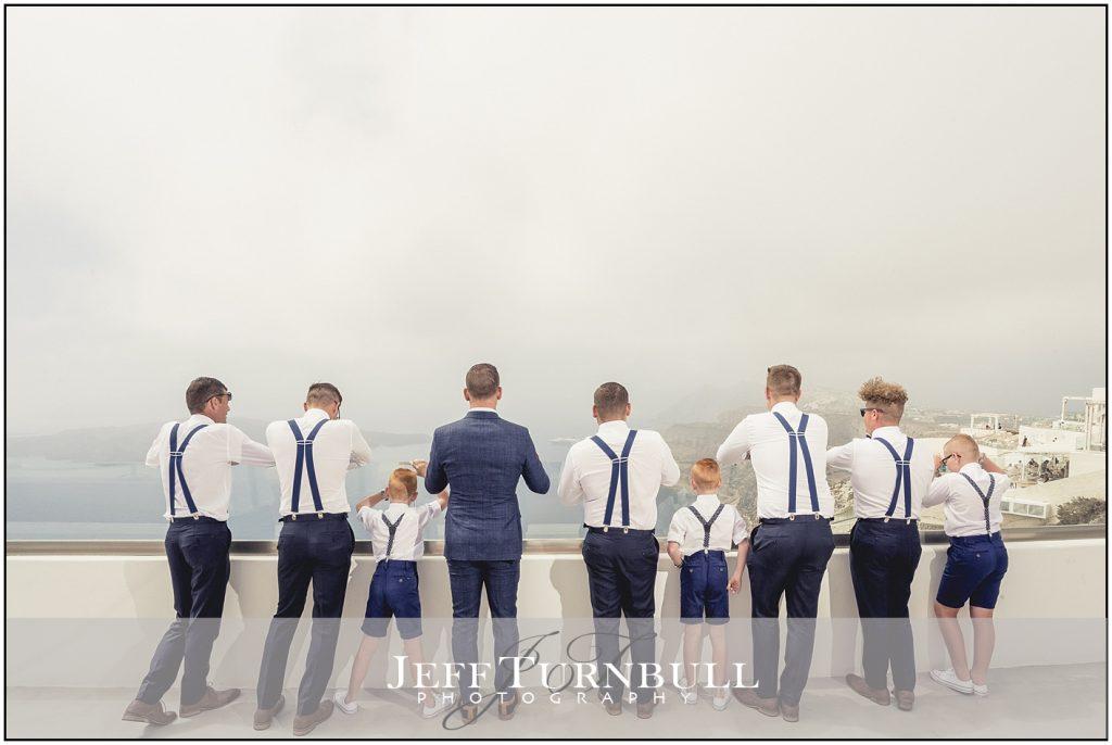 Groomsmen Santorini Gem Wedding Photography