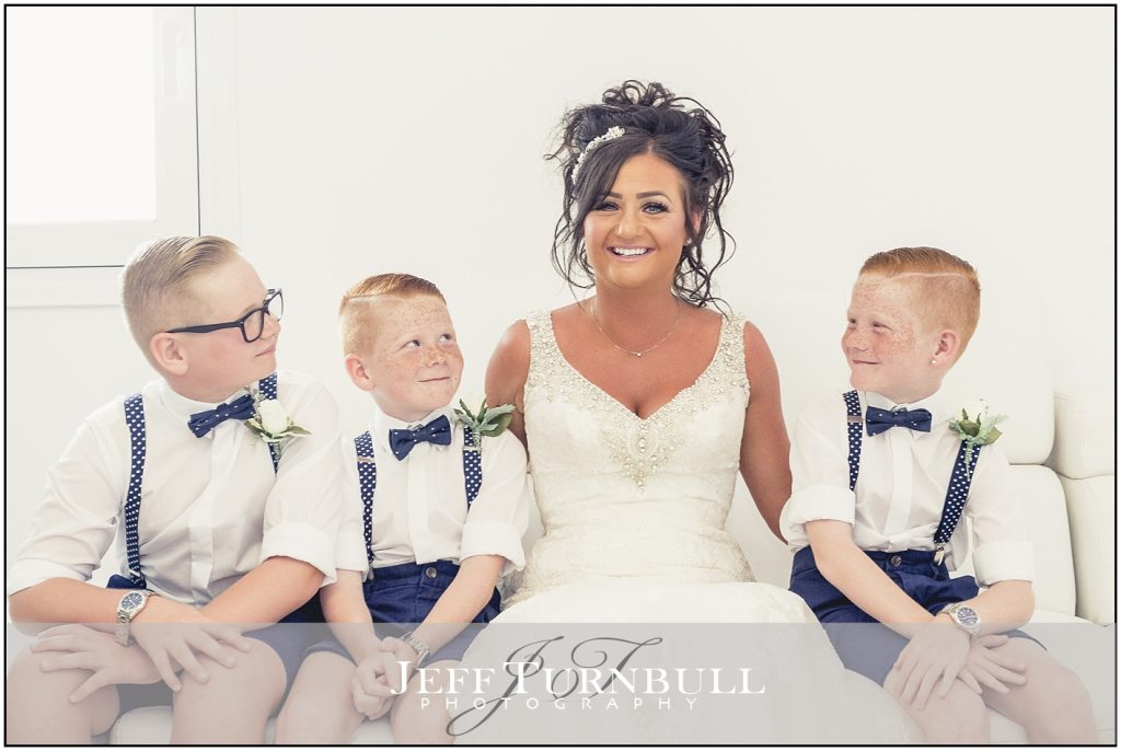 Bride & Pageboys Santorini Gem Wedding Photography