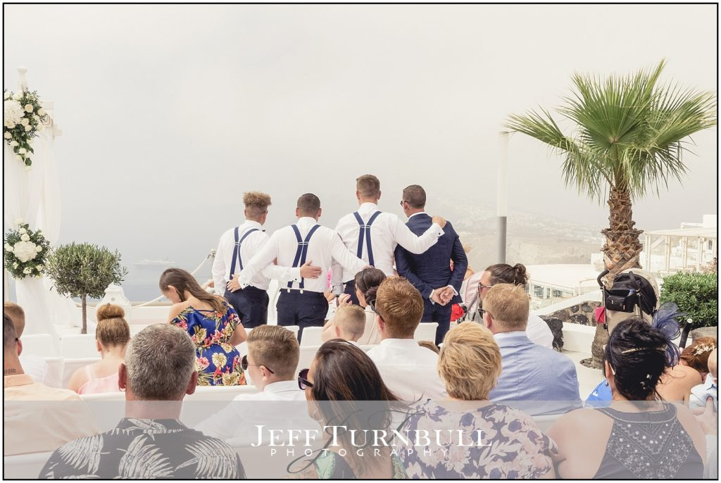 Groomsman Santorini Gem Wedding Photography