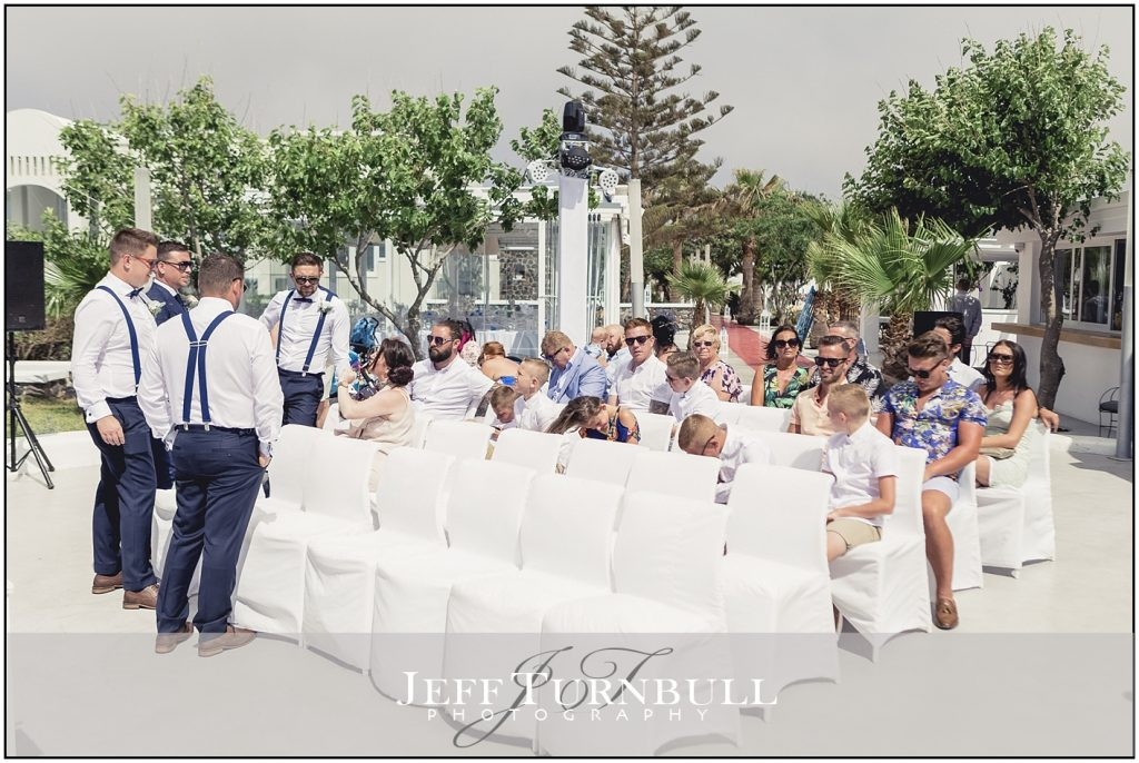 Guests at Santorini Gem Wedding Photography