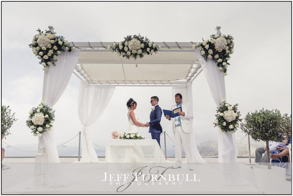 Wedding Ceremony Santorini Gem
