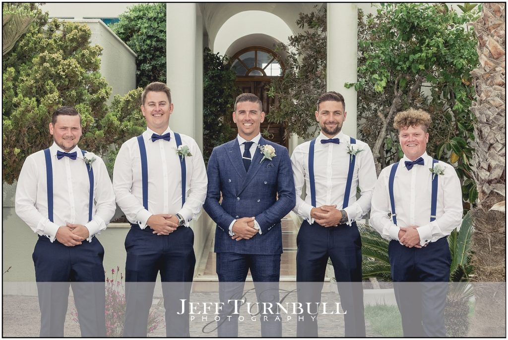 Groom and Groomsmen Santorini Gem Wedding Photography