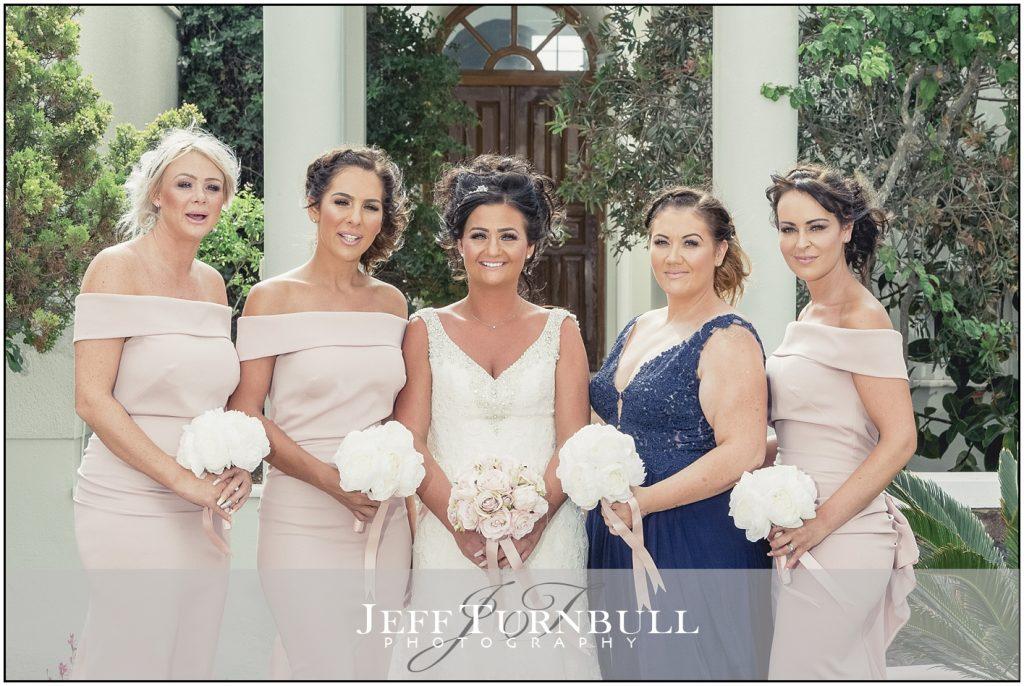 Bride and Bridesmaids Santorini Gem Wedding Photography