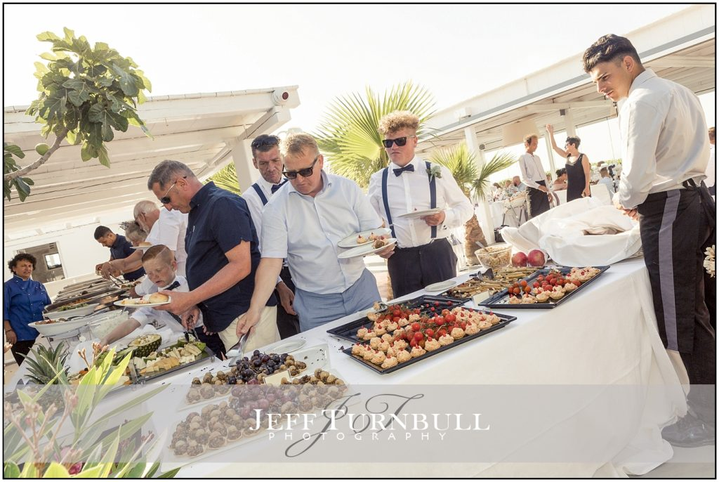 Wedding Buffet Santorini Gem Wedding Photography