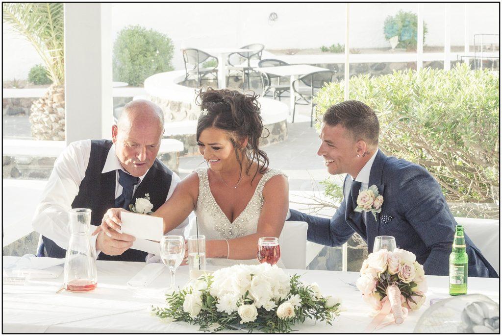 Speeches Santorini Gem Wedding
