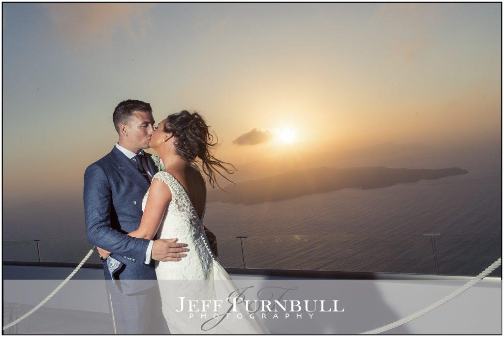 Sunset at Santorini Gem Wedding