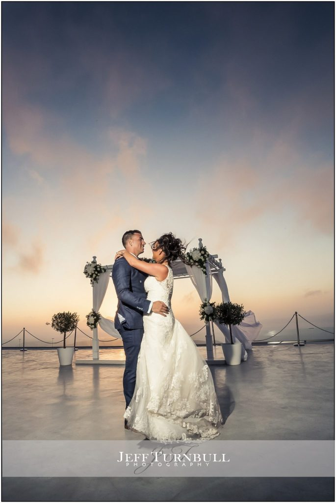 The First Dance Santorini Gem Wedding