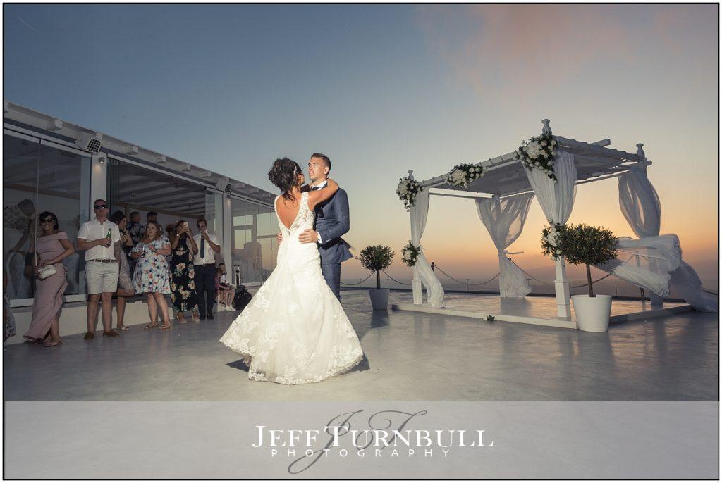 The First Dance Santorini Gem Wedding