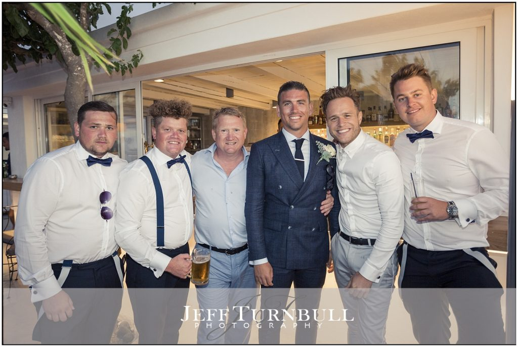 Oly Murs at Santorini Wedding
