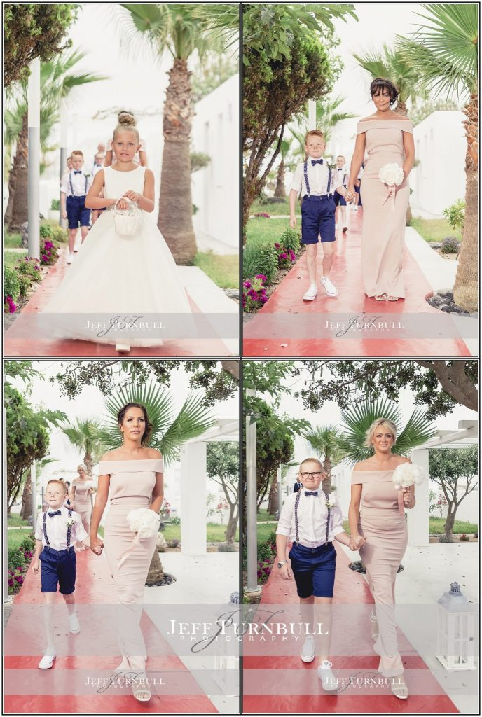 Flower Girl Pageboys Santorini Gem Wedding Photography