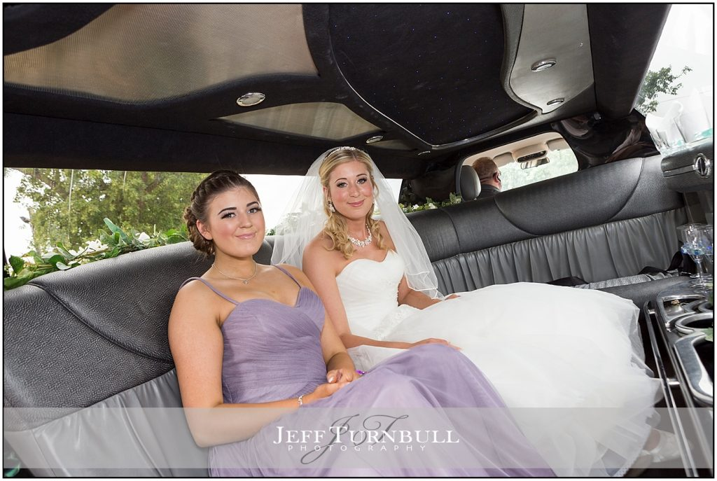 Bride Stretch Limo Compasses at Pattiswick