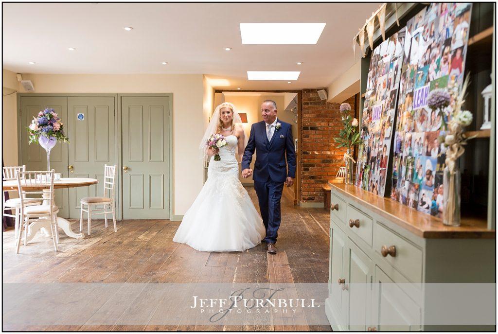 Bride Dad Walking Down Aisle Compasses at Pattiswick