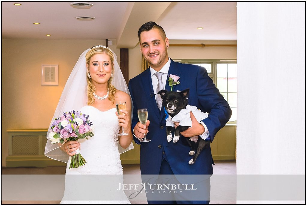 Bride Groom Dog Compasses at Pattiswick