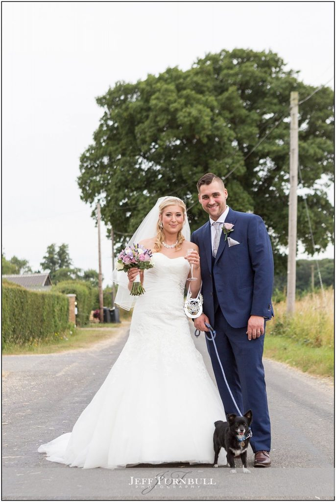 Bride Groom Outside Compasses at Pattiswick