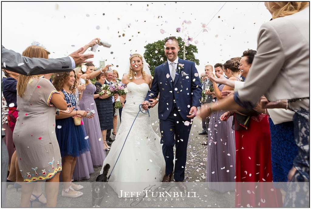 Confetti Bride Groom Compasses at Pattiswick