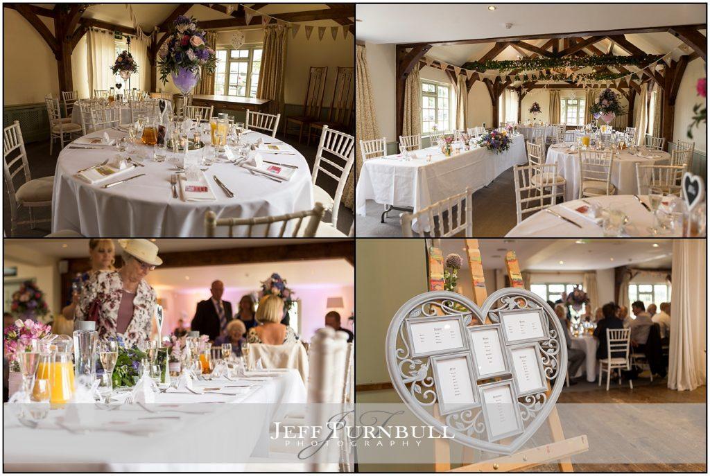 Wedding Breakfast Room Compasses Pattiswick Wedding Photography