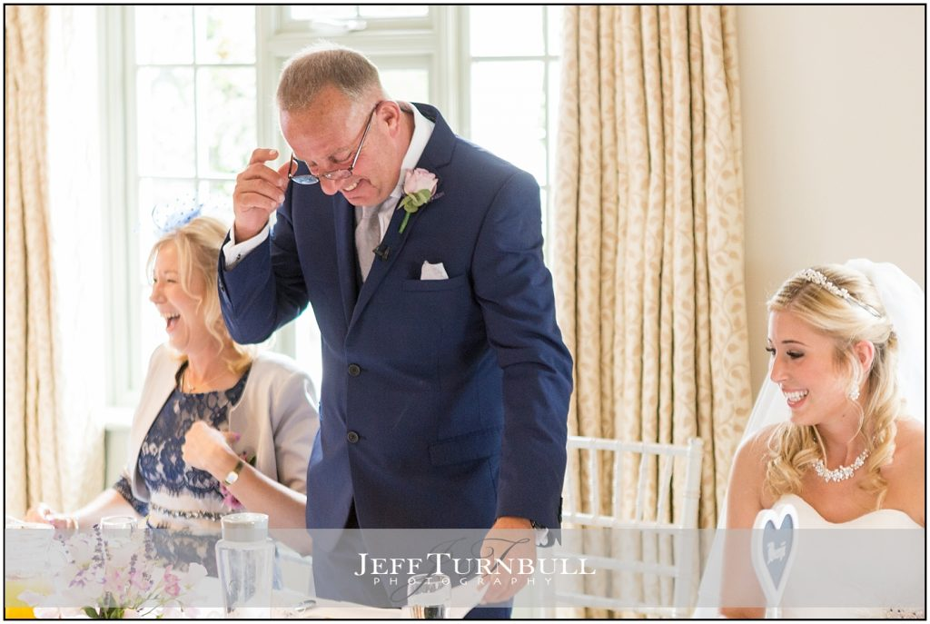 Father of Bride Speech Compasses at Pattiswick