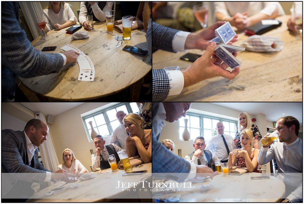 Nick Crown Magician Wedding Compasses at Pattiswick