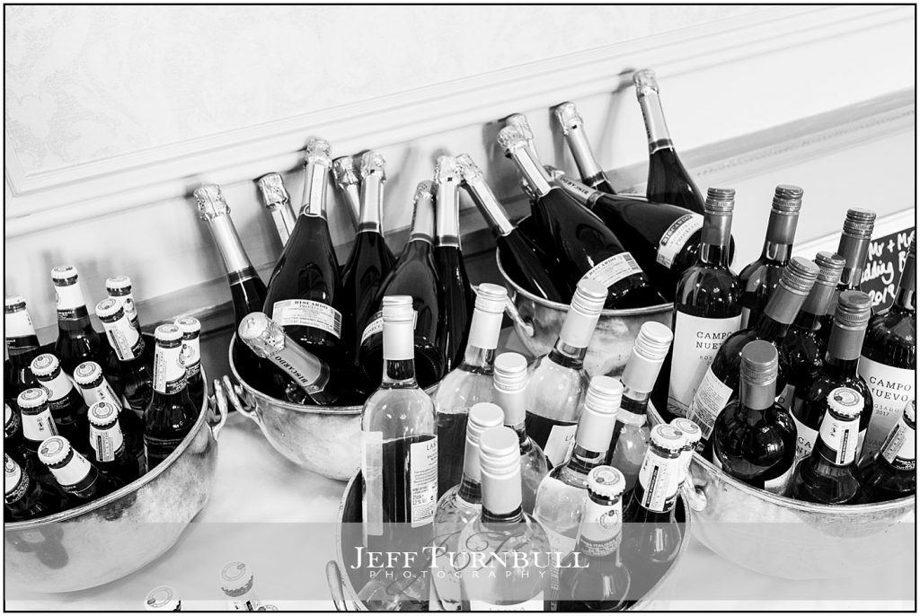 Drinks for Wedding Reception at Down Hall