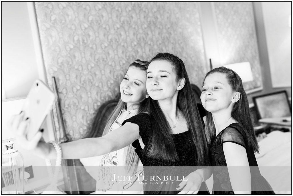 Young Bridesmaids Doing a Selfie