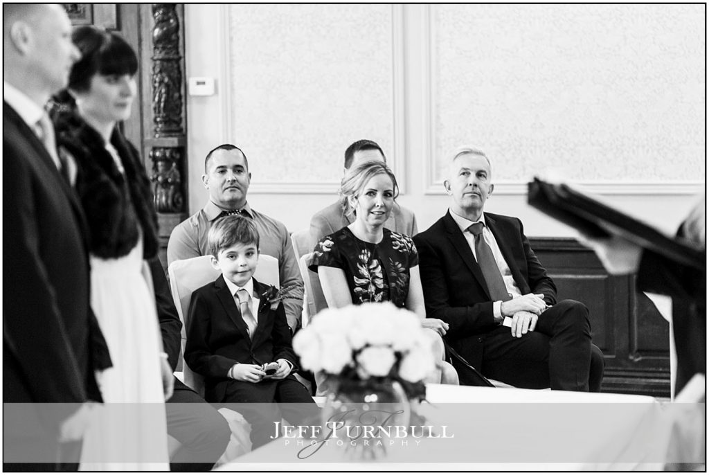 Guests watching wedding Ceremony at Down Hall