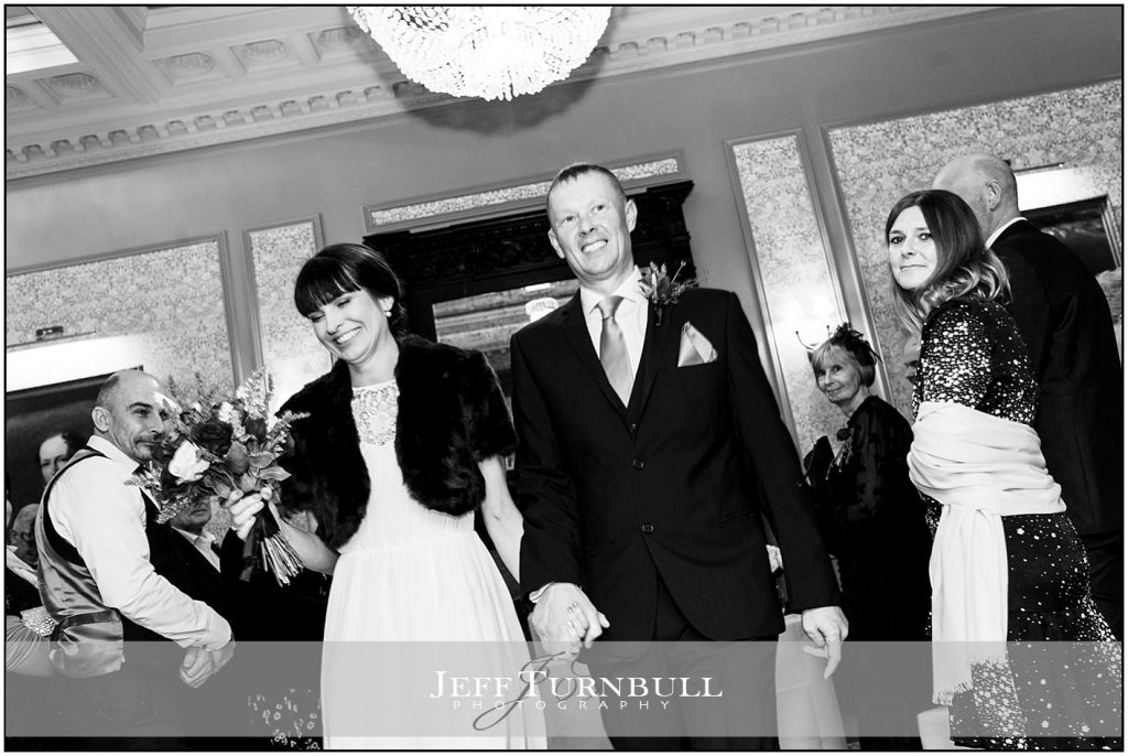 Bride and Groom After wedding Ceremony at Down Hall
