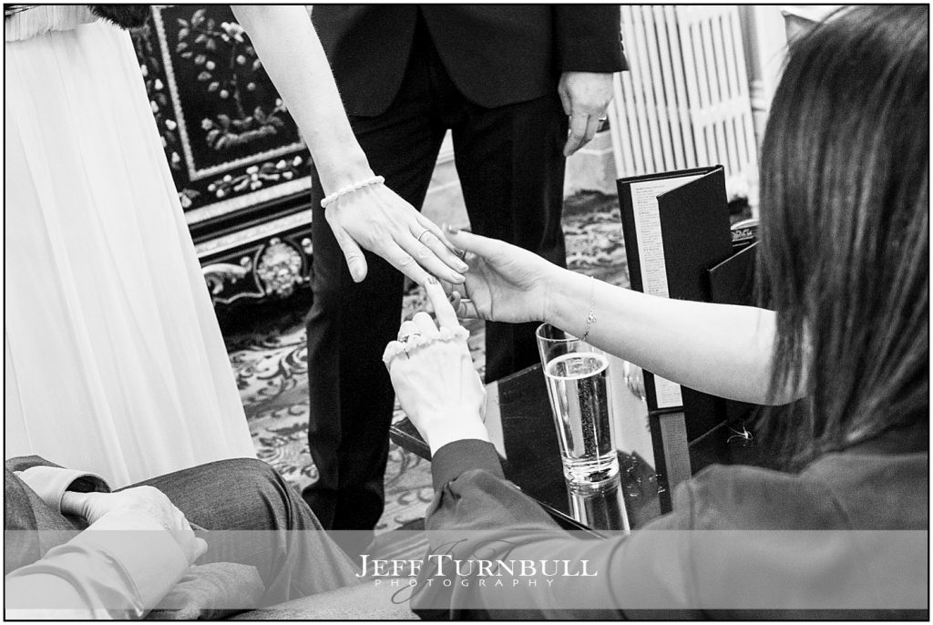 Bride Showing Guests Her Wedding Ring