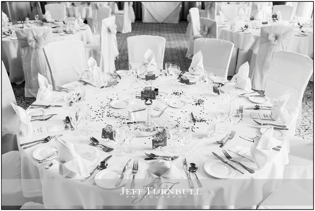 Table Decorations at Down Hall