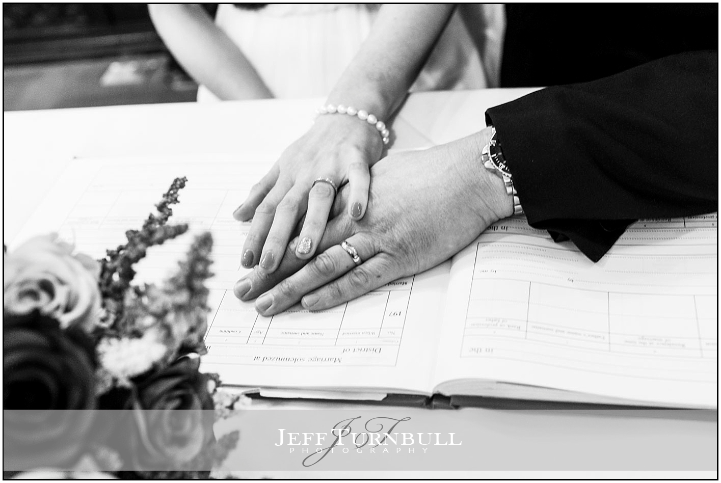 Bride and Groom Wearing Wedding Rings