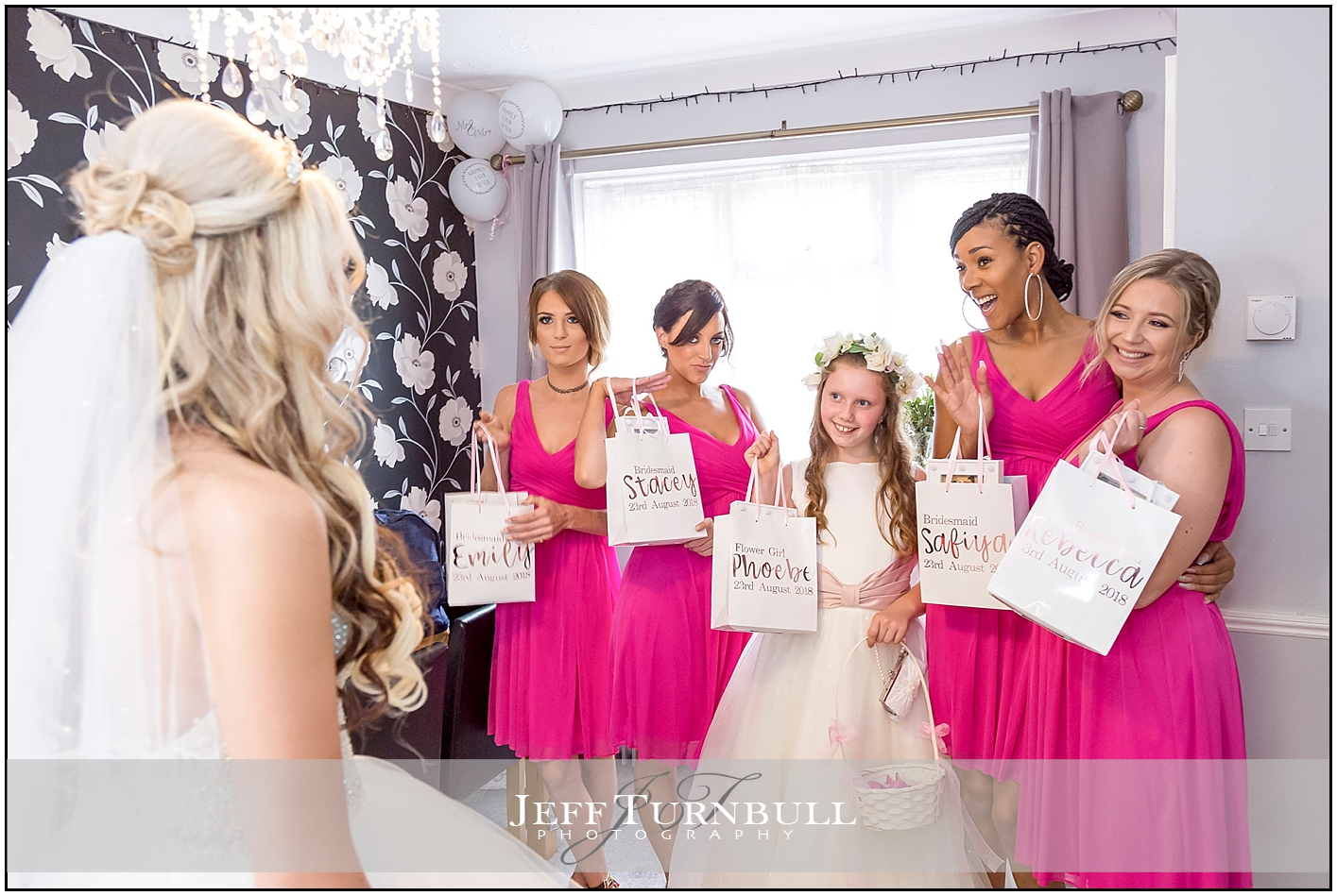 Bride Giving Gifts to Bridesmaids