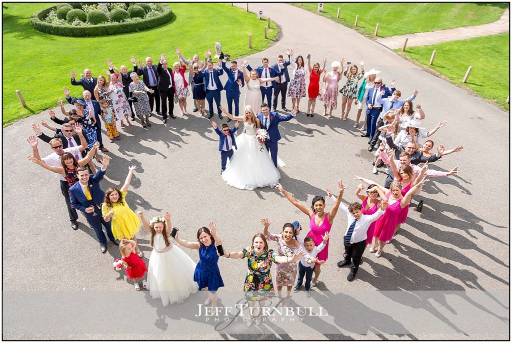 Heart Shape Wedding Photo at The Fennes