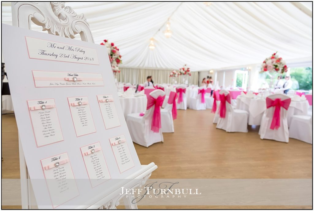 Wedding Table Plan at The Fennes