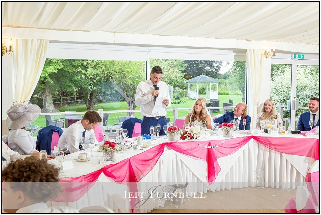 Groom Making Speech at The Fennes