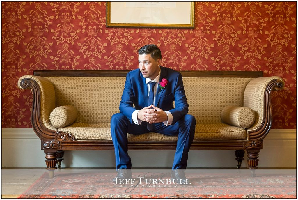 Groom Portrait Photography Wedding at The Fennes