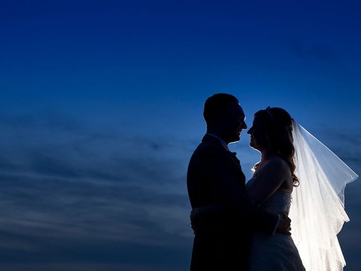 Blue Hour Bride and Groom