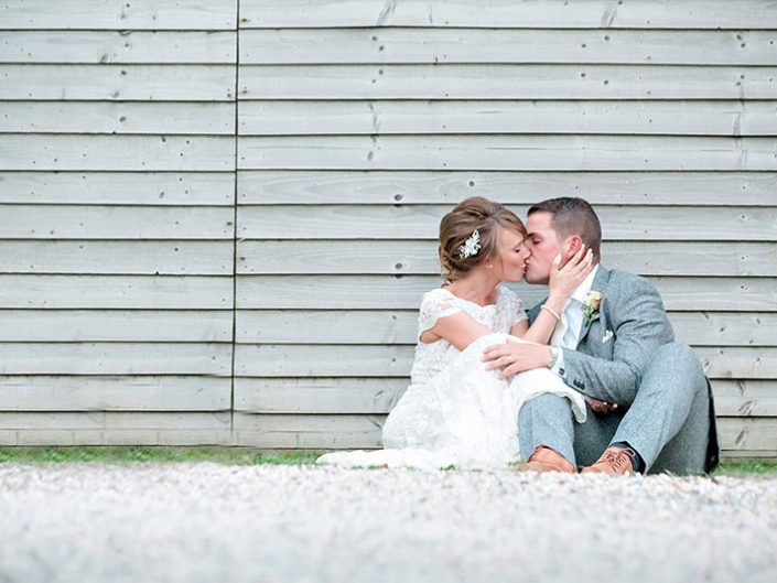 Relaxed Wedding Couple