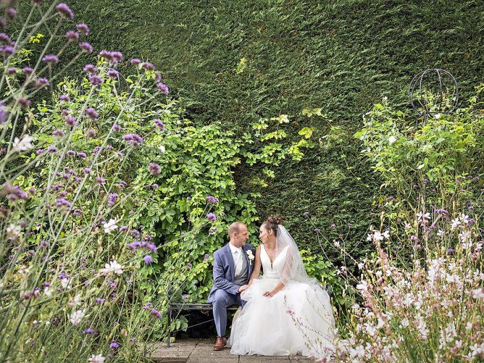 Bride Groom Gaynes Park Wedding Venue