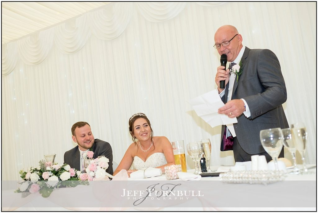 Father of bride doing a speech