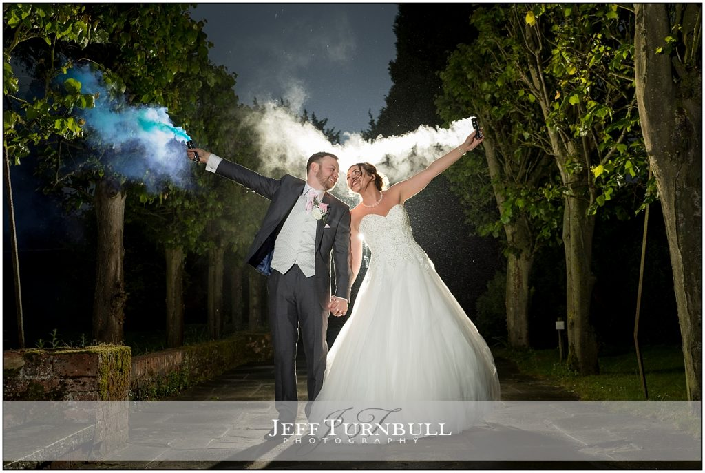Smoke Grenades at a Wedding