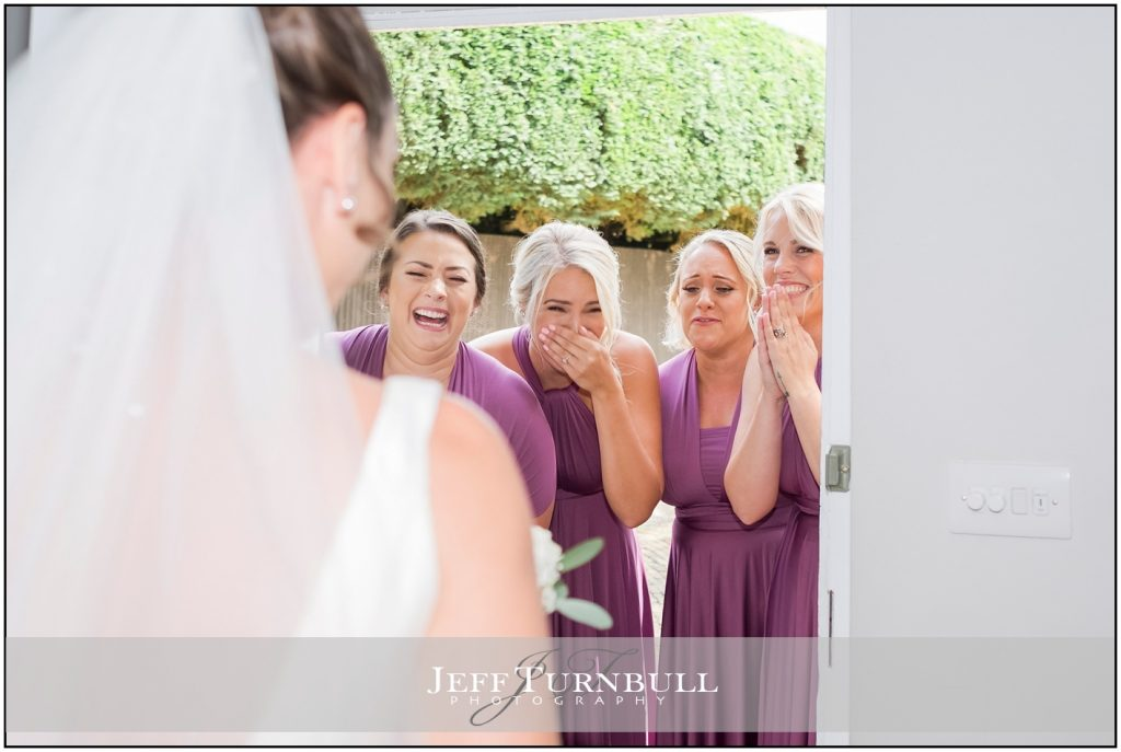 Bride and Bridesmaids Gaynes Park