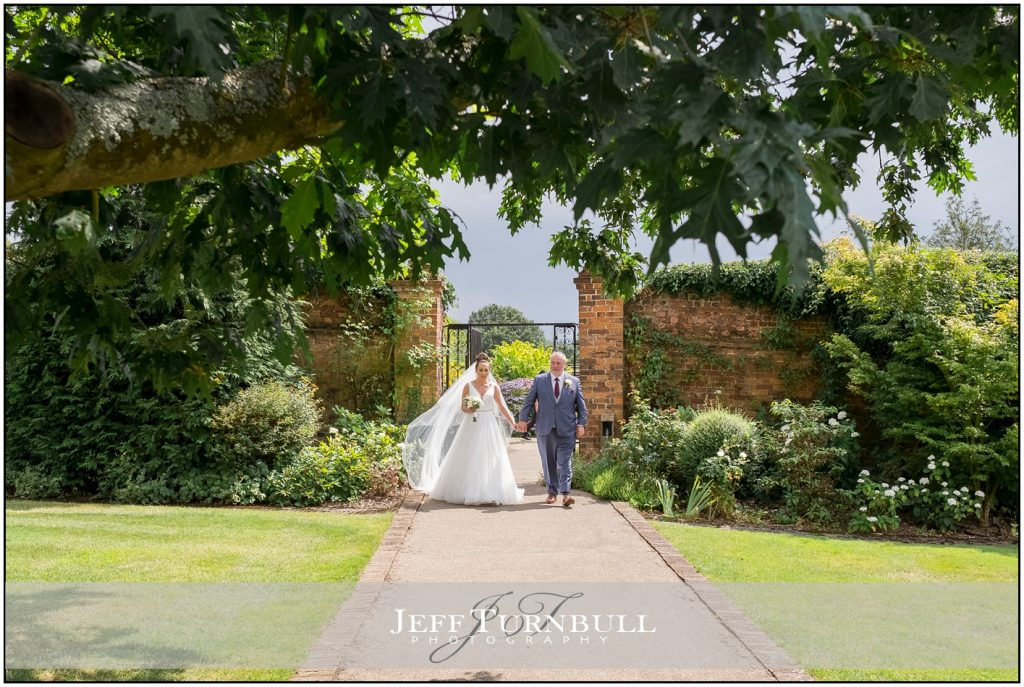 Bride and Dad at Gaynes Park