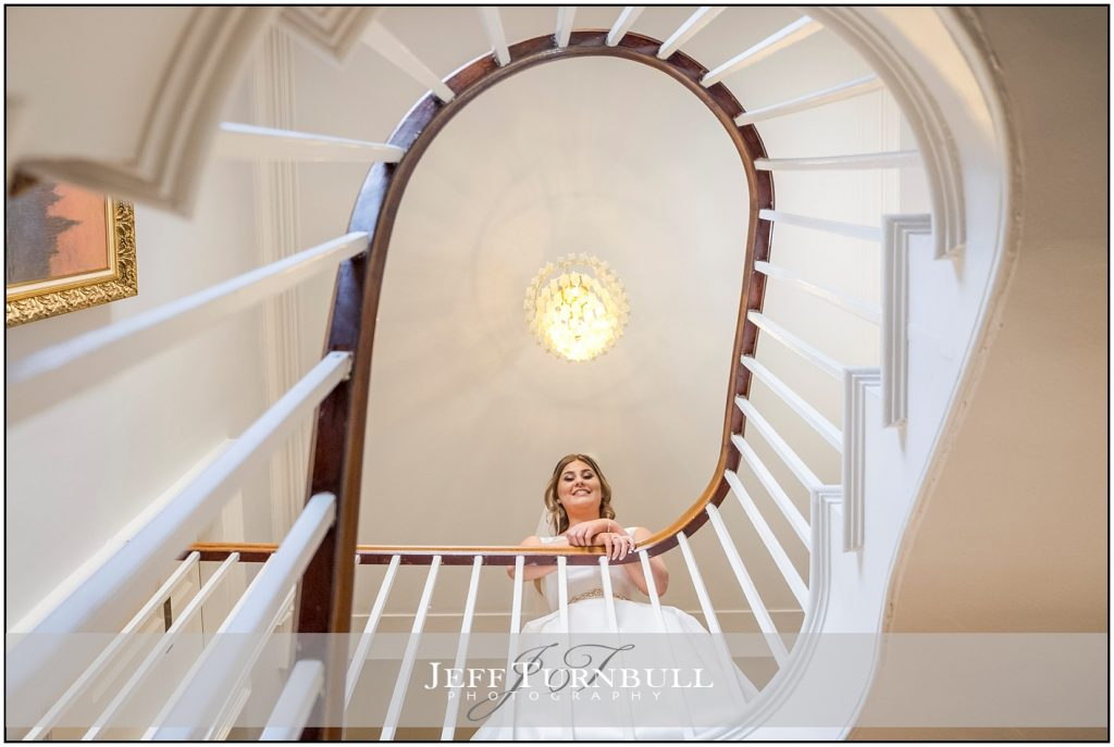 Best Fennes Wedding Photography Top of The Stairs