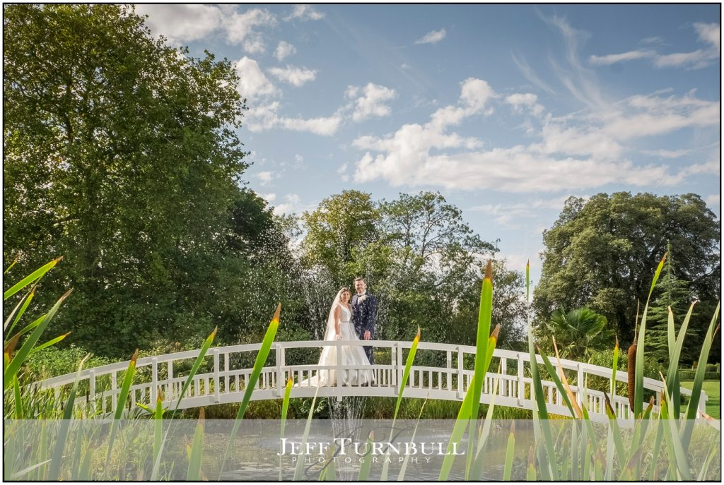 Bride and Groom on White Bridge