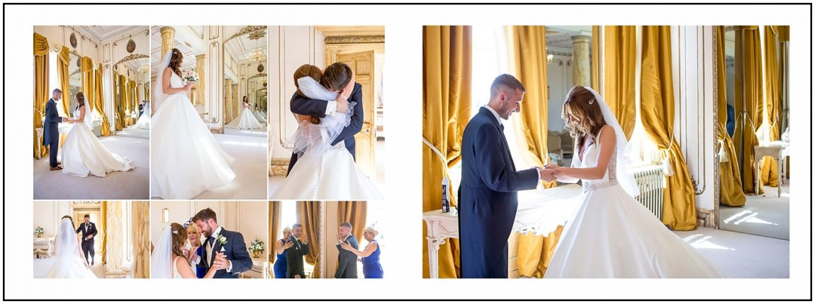 Bride and Brother at Gosfield Hall